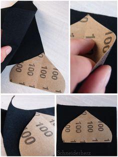 Verstürzen mit Sandpapierschablone DIY