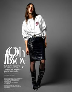 Oh Boy: #CristaCober by #MarcDeGroot for #VogueNetherlands January 2014