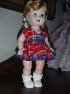 1950's Nancy Ann Debbie doll in vintage dress, (Muffie's big sister)  #NancyAnn #Dolls