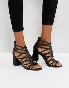 25929a50026f5 ASOS THISTLE Block Heeled Sandals Heeled Sandals