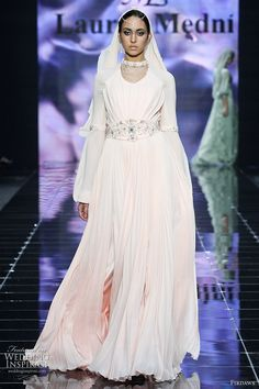 Chechen fashion designers Laura and Medni Arzhiyeva presents Firdaws, modest wedding dresses