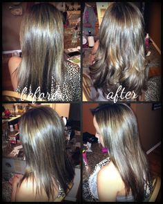 #hotheads hair extensions before and after #salonesperanza