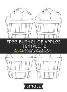 Free Bushel Of Apples Template - Small