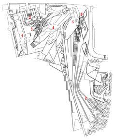 scottish parliament building - Google Search Architecture Drawings, Architecture Plan, Shopping Mall Architecture, Drawing Sites, Scottish Parliament, Graduation Project, Architectural Section, Site Plans, Hangzhou