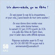 carte dinvitation anniversaire 50 ans popcarte - Texte 50 Ans De Mariage Noces D Or