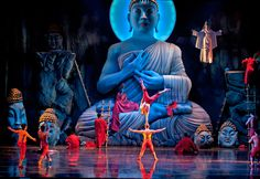 Monkey: Journey to the West. Lincoln Center Festival. Scenic design by Jamie Hewlett. 2013