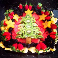 Christmas tree fruit tray :)