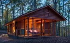 Perfect cabin retreat - in 400 sq ft! http://www.icetrend.com/from-the-outside-its-just-a-tiny-log-cabin-but-look-inside-your-mind-will-explode/
