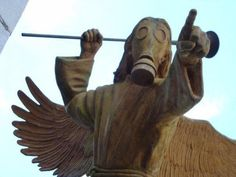 whovian nightmare. Angel Statue? With a plunger and gasmask? Yup. The meaning of a nightmare for a whovian<---This!