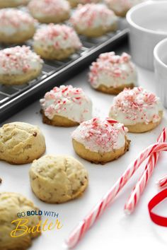 Peppermint Snowballs are deliciously easy drop cookies that you mix, scoop and bake. Be sure to stock up on butter, because an entire pound is creamed into the dough. The result is a tender, flavorful holiday cookie that is buttery beyond words! Holiday Cookie Recipes, Holiday Cookies, Almond Nut, Snowball Cookies, Drop Cookies, Cookie Monster, Irene, Peppermint, A Food