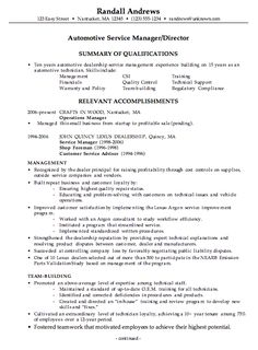 Example Of A Service Manager Resume In Pest Control
