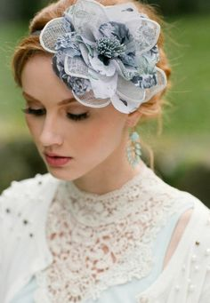 A breathtaking floral headpiece perfect for high noon tea. A breathtaking floral headpiece perfect for high noon tea. Tea Party Attire, Tea Party Hats, Tea Parties, High Tea Hats, Floral Headpiece, Bridal Hairpiece, Bridal Veils, Blue Bridal, Vintage Inspired Dresses