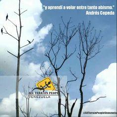 """""""y aprendí a volar entre tanto abismo."""" #AndrésCepeda #AllTerrainPeopleVenezuela ❤ #venezuelatequiero #life #love #kayak #skate #rutas #extremo #parapente #quehaceshoyporvenezuela #allterrainpeople #wandere #gopro #extremo #naturaleza #paisajes #trekking #fundadores #venezuela #justicia #canaima #paraísoterrenal #igersvenezuela #lucha #noalmaltratoanimal #prayforvenezuela #adelantevenezuela #venezuelasomostodos"""