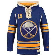 Old Time Hockey Jack Eichel Buffalo Sabres Navy Current Player Lacer Name and Number Hoodie
