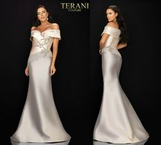TERANI COUTURE 2011M2159 authentic dress. FREE FEDEX. BEST PRICE   eBay Strapless Dress Formal, Formal Dresses, Wedding Dresses, Terani Couture, Bride Gowns, Types Of Sleeves, Wedding Styles, Shoulder Dress, Free