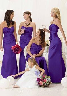 purple brides maids