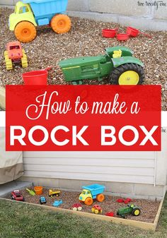 How To Make A Rock Box - A Sandbox Alternative #playbasedlearning #outdoorplayareaforkids