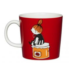 Shop the Moomin Little My Cartoon Character Mug by Arabia, a must-have collectible porcelain/ceramic mug decorated with a cult classic Moomin story. Moomin Books, Moomin Mugs, Moomin Shop, Moomin Cartoon, Little My Moomin, Tove Jansson, Red Mug, Jam Jar, Porcelain Mugs