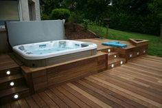 30 Outdoor Spas and Hot Tubs You Deservehomeideas jacuzzi poolspa Outdoor whirlpool kit Whi whirlpool outdoor outdoor whirlpool kit - outdoor . Hot Tub Backyard, Hot Tub Garden, Backyard Pools, Pool Decks, Jacuzzi Outdoor Hot Tubs, Small Garden Jacuzzi, Jacuzzi Hot Tub, Terrace Garden, Outdoor Spa