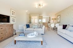 The living room in The Southwold at Nickleby Place in Dawlish | Bovis Homes