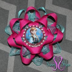 Sassy Sunflower Frozen Anna Hair Bow Accessory by SassyStylesbySS