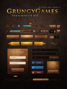 Ui Kit Grungy Games by Skiiks.deviantart.com on @DeviantArt