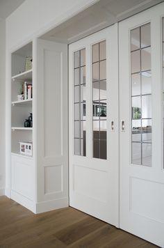 Tall Cabinet Storage, Locker Storage, Door Design, House Design, Book Wall, Built In Bookcase, Kitchen Doors, Room Doors, Living Room Designs