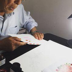 Concentração 🙏🏻🙏🏻🙏🏻 #yukifujitabrasil #pintura #arte #artista #handpainted #aquarela #susanafujita #susanafujitaconvitesespeciais