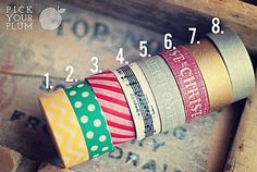 Giveaway! Pick Your Plum is giving away 8 rolls of Washi Tape!! Today only... 11/19/12