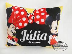 Almofada Personalizada Mickey e Minnie - Loja Brind Brink
