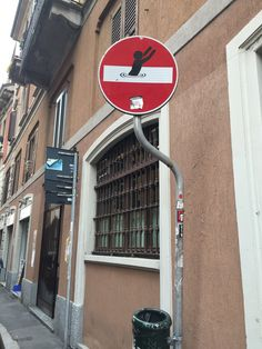 Interesting street signs in Italy