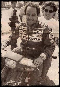 f1 Gerhard Berger e Ayrton Senna