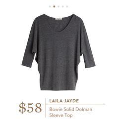 ad986deb282 Stitch Fix  Laila Jayde Bowie Solid Dolman Sleeve Top  58 Stitch Fix  Pinterest