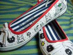 Studio Ghibli Shoes by Bee-Delicious.deviantart.com on @deviantART