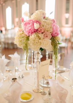 Reception Decorations, Flower Decorations, Wedding Centerpieces, Wedding Table, Wedding Receptions, Blush Wedding Flowers, Floral Wedding, Timeless Wedding, Elegant Wedding