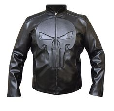 The Punisher Thomas Jane Frank Castle Leather Jacket is a new outfit of Jon Bernthal in the TV series. Men's Leather Jacket, Biker Leather, Cowhide Leather, Leather Men, Black Leather, Lambskin Leather, Thomas Jane, Leather Jackets For Sale, Anime Outfits