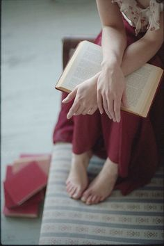 barefoot, reading, relax