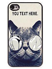 cassa personale caso di disegno del metallo del gatto lascivo per iPhone 4 / 4S
