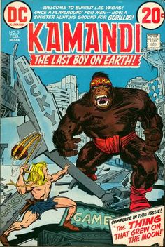 Items similar to Kamandi 3 VFNM Jack Kirby Mike Royer Gorilla Men Cover DC Bronze Age Comics Book February 1973 Christmas Gifts Birthday Gifts on Etsy Dc Comic Books, Comic Book Artists, Comic Book Covers, Comic Book Characters, Old Comics, Vintage Comics, Marvel Dc Comics, Robert E Howard, Jack Kirby Art