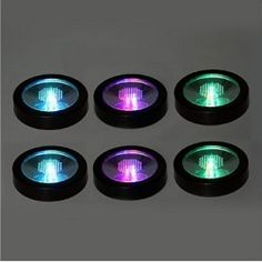 Lot of 6 New Color Changing LED Light Drink Bottle Cup Coaster - Cool Coasters / Project Fellowship Cool Coasters, Drink Coasters, Cup Mat, Cup Coaster, Furniture Catalog, Coaster Furniture, Color Changing Led, Bar Tools, Picture Wall