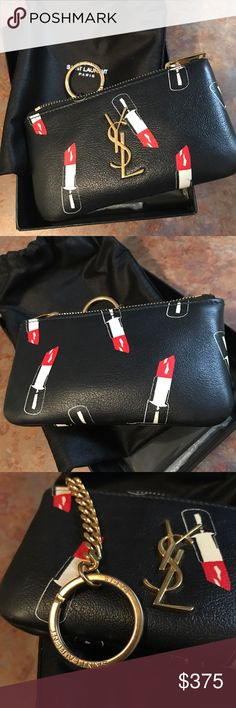 YSL - Keychain Card Carrier Resale of Poshmark purchase. It was used for a few months, minimal wear, and comes with box and packaging sleeve. Yves Saint Laurent Accessories Key & Card Holders