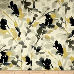 Waverly Leaf Storm Linen Graphite from @fabricdotcom  This beautiful medium weight linen rayon blend fabric features great physical and visual texture, with slubs throughout and metallic accents. Use for window treatments (draperies, swags, valences), duvet covers, toss pillows, and more. Colors include linen, grey, navy, and metallic gold.
