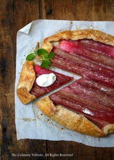 Rustic rhubarb tart