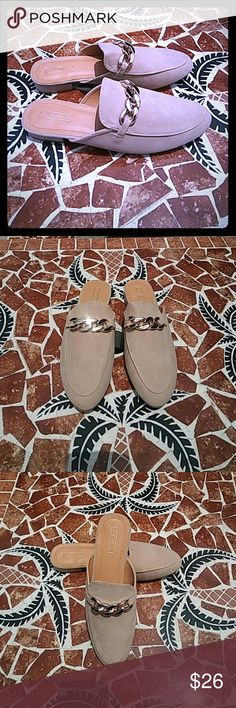 Women's Flats Beige Color Upper Decorative Metal Embellishment Strap  Imported Vegan Material New in Box Yoki Shoes Flats & Loafers