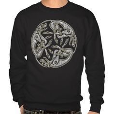 Celtic dogs  traditional ornament gold and silver sweatshirt - sold!