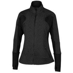 ASICS® Tiger Run Illuminated Jacket - Women's - Running - Clothing - Black/Reflective size Medium