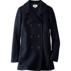 WOMEN IDLF WOOL BLENDED PEA COAT  http://www.uniqlo.com/us/product/women-idlf-wool-blended-pea-coat-133445.html#69