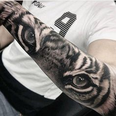 Really realistic tiger tattoo