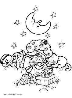 Strawberry Shortcake color page, cartoon characters coloring pages, color plate, coloring sheet,
