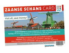 The Zaanse Schans Card allows you to explore the entire residential and working area at a reduced price